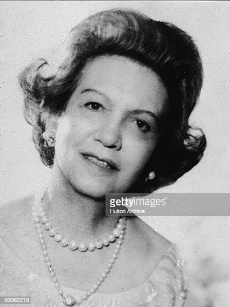 Studio portrait of Canadianborn beautician and cosmetics entrepreneur Elizabeth Arden 1950s