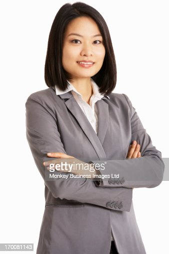 Studio Portrait Of Chinese Businesswoman : Foto de stock