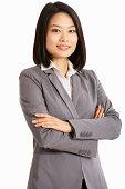 Studio Portrait Of Chinese Businesswoman