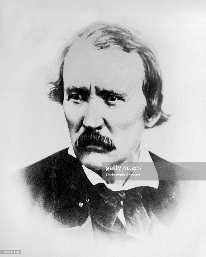 Studio portrait of Christopher 'Kit' Carson circa 1865