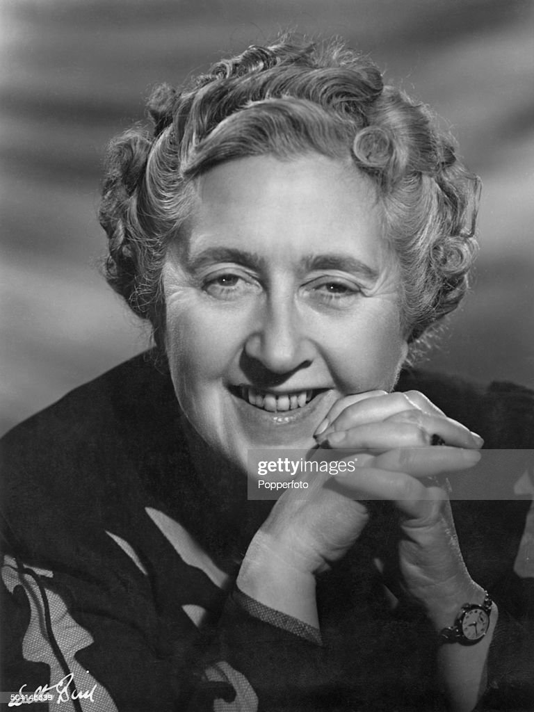 A studio portrait of English crime novelist, short story writer, and playwright Agatha Christie (1890 - 1976), circa 1960. Photograph by Walter Bird.