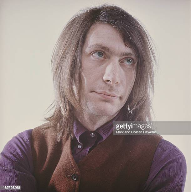 Studio portrait of English drummer and member of The Rolling Stones Charlie Watts posed circa 1970
