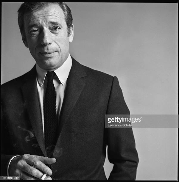 Studio portrait of French actor Yves Montand in support of his motion picture 'On a Clear Day You Can See Forever' New York New York 1969