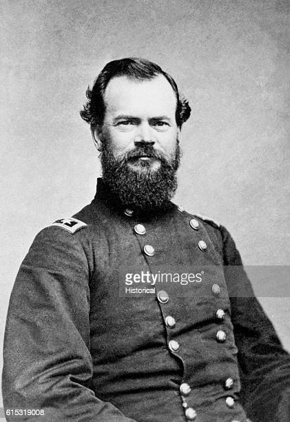 Studio portrait of General James McPherson a Federal officer who led the Army of the Tennessee at the battle of Atlanta until his death on July 22...