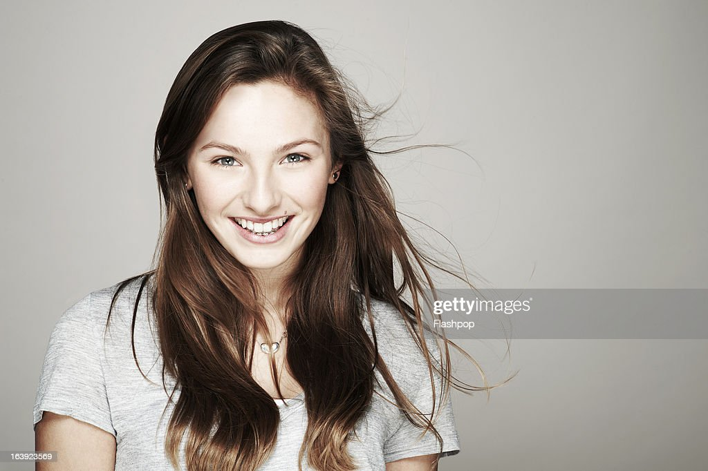 Studio portrait of girl : Stock Photo