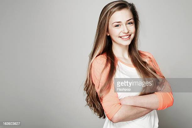 Studio portrait of girl