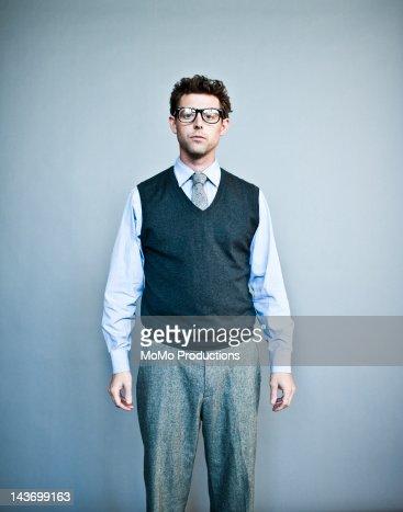 studio portrait of office worker