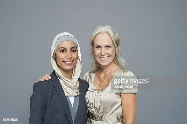 Studio portrait of two businesswomen