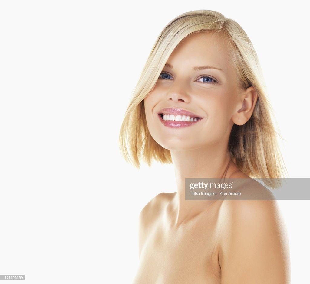 Studio portrait of young woman : Stock Photo