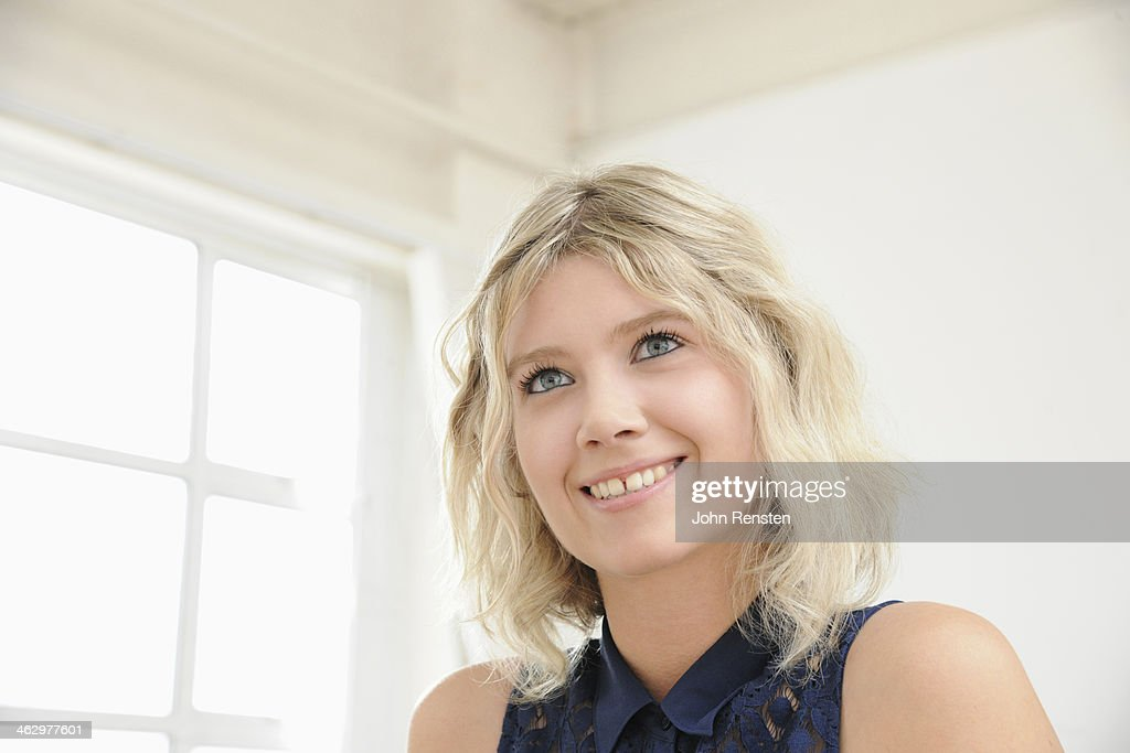 Studio portraits of happy, optimistic people : Stock Photo