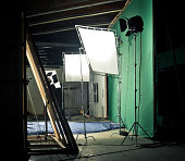 Studio with various equipment for photography or video shooting