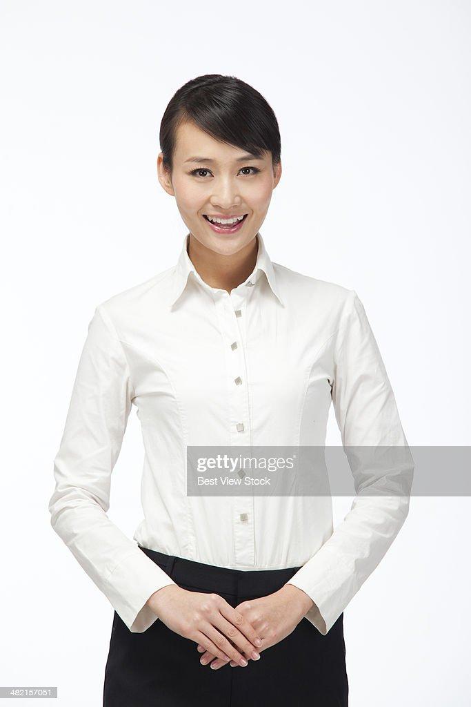 studio shot business woman