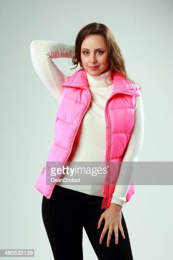 スタジオ撮影の美しい女性 : ストックフォト