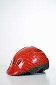 Studio shot of a bicycle helmet