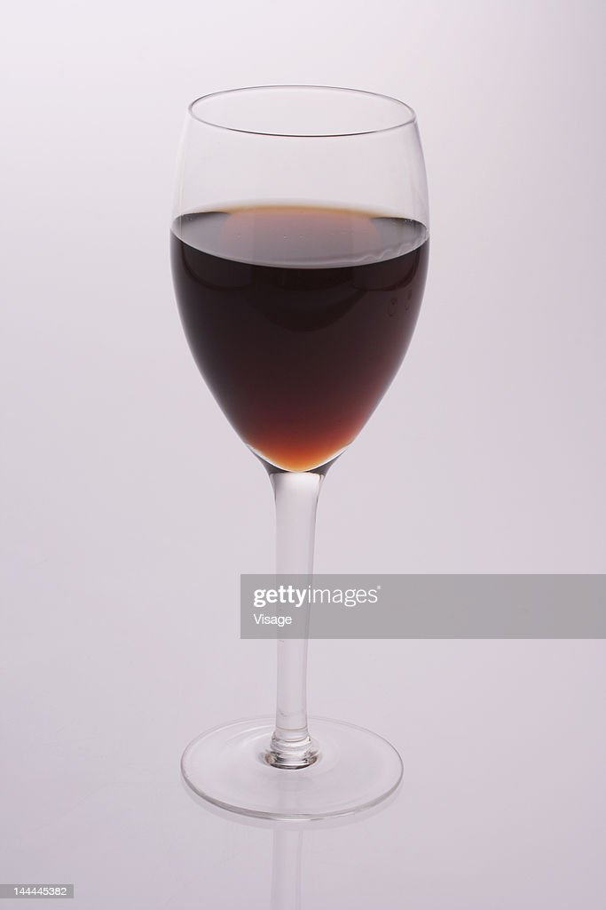 Studio shot of a glass of wine : Stock Photo