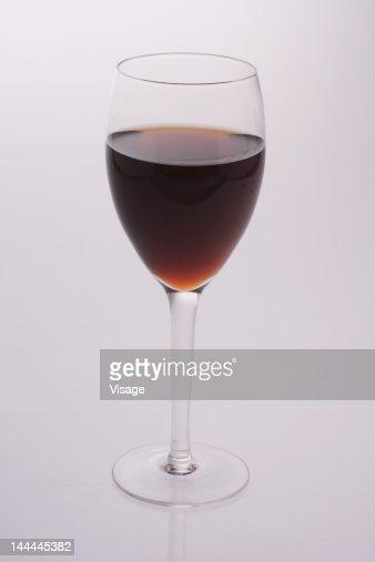 Studio shot of a glass of wine : Stock Photo