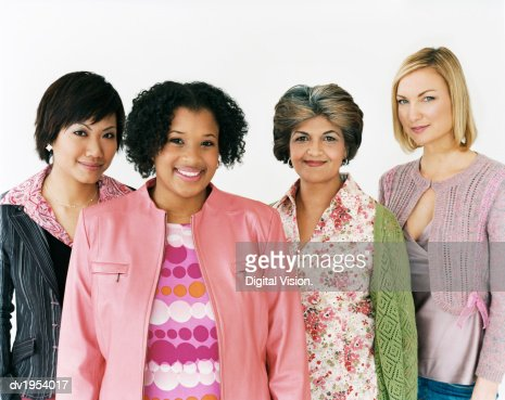 Studio Shot of a Mixed Age, Multiethnic Group of Women : Stock Photo