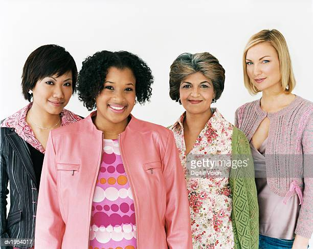 Studio Shot of a Mixed Age, Multiethnic Group of Women