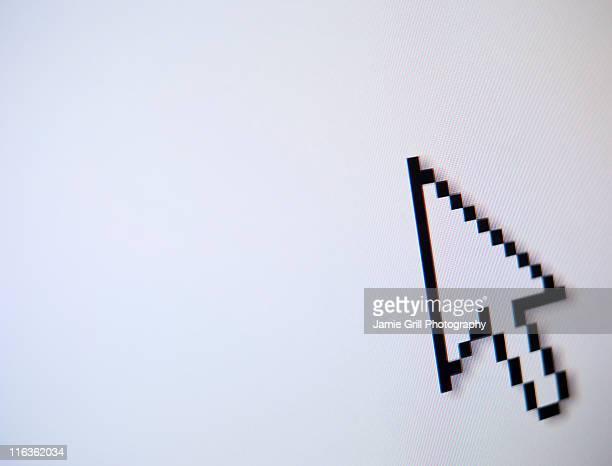 Studio shot of arrow cursor