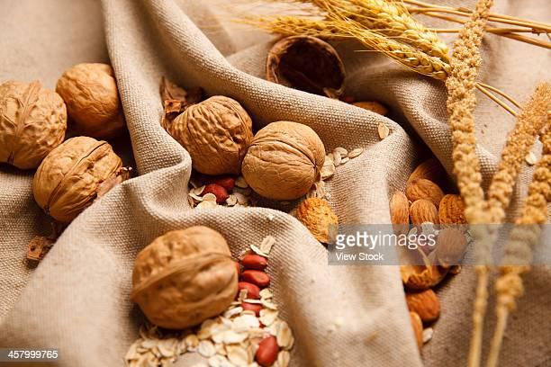 Studio shot of assorted nuts