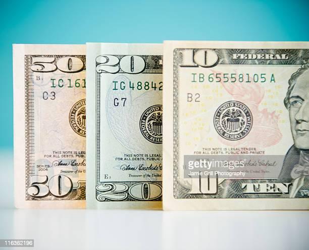 Studio shot of banknotes