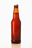 Studio shot of beer bottle