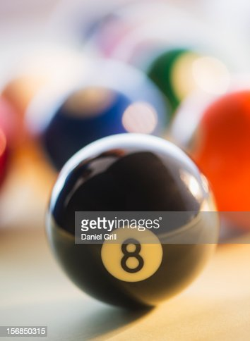Studio Shot of billiard ball