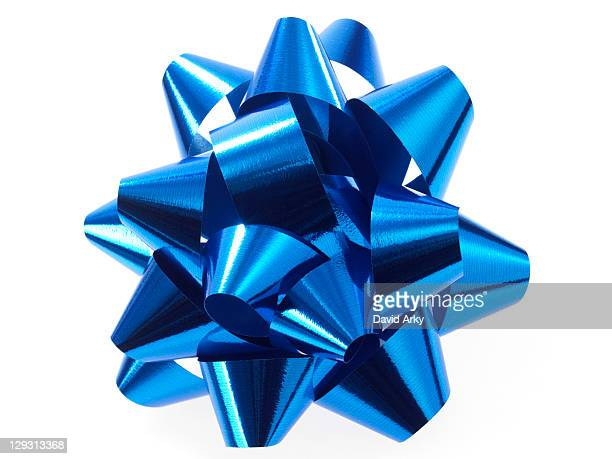Studio shot of Blue Ribbon on white background