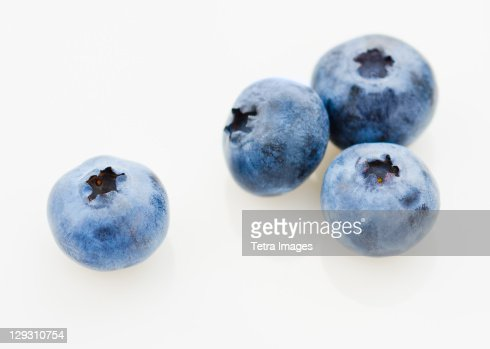 Studio shot of blueberries : Stock Photo