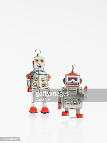 Studio shot of book robots