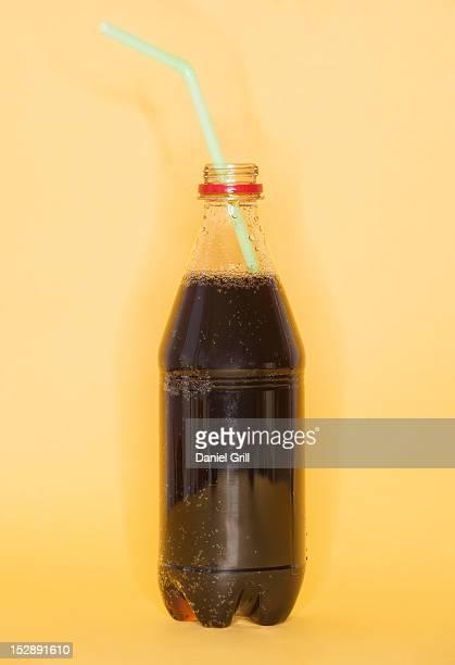 Studio shot of bottles of cola