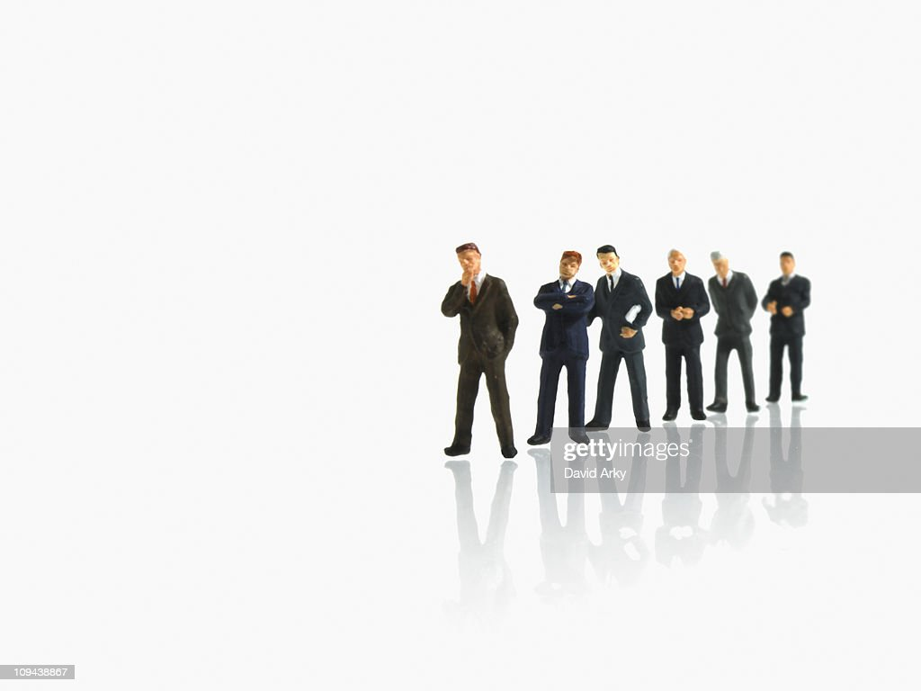 Studio shot of businessman figurines : Stock Photo