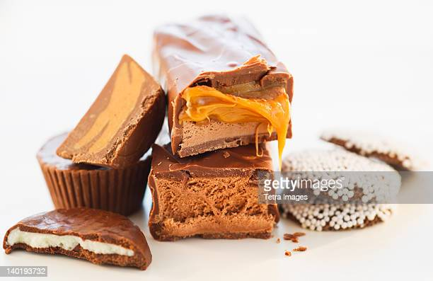Studio shot of chocolate bars