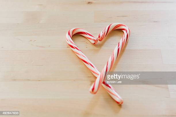 Studio shot of Christmas heart shaped candies