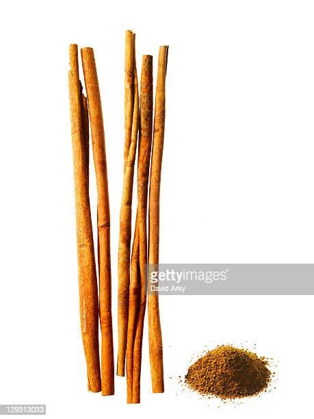 Studio shot of cinnamon sticks