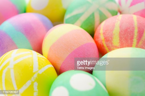 Studio shot of colorful Easter eggs