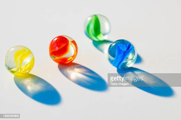 Studio shot of colorful marbles