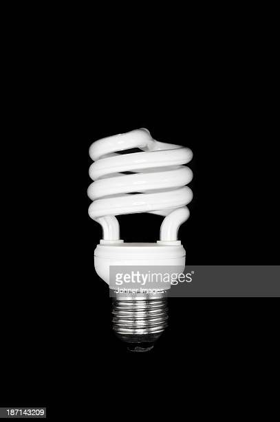 Studio shot of compact fluorescent lamp