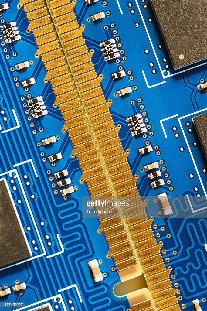 Studio shot of computer chip : Stock Photo