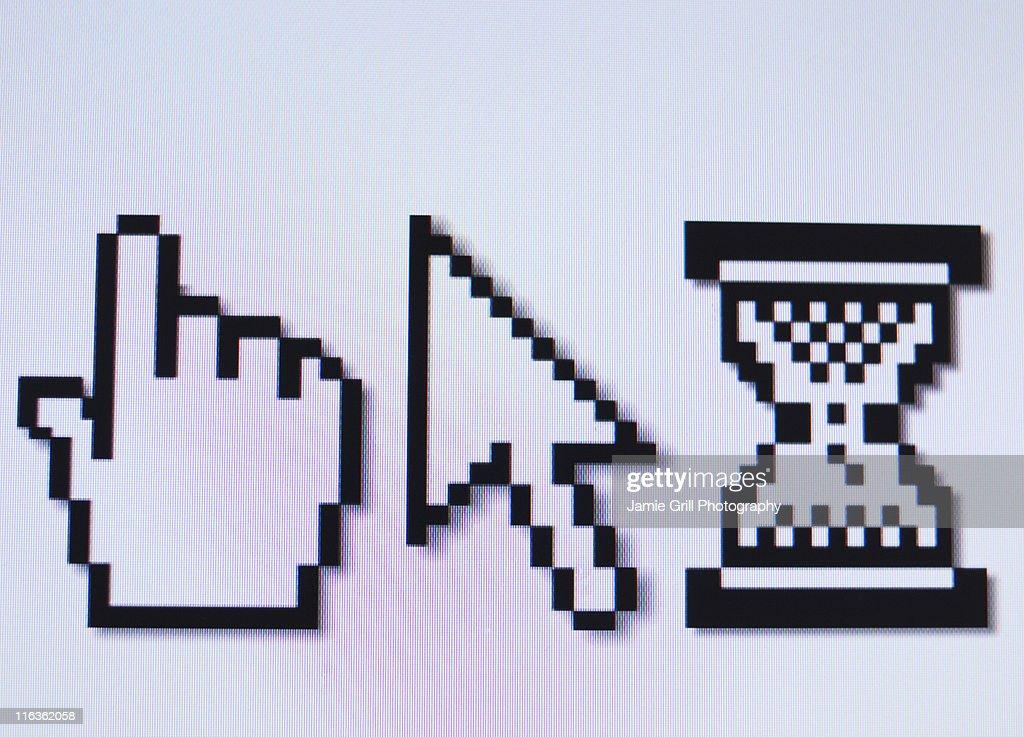 Studio shot of cursors