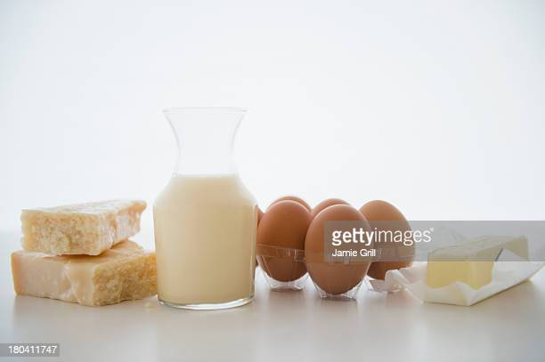 Studio Shot of dairy products
