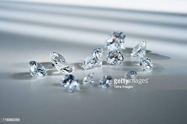 Studio shot of diamonds