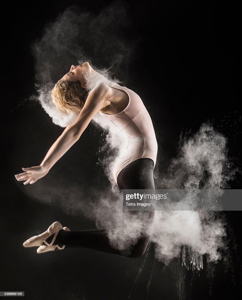 Studio shot of female dancer