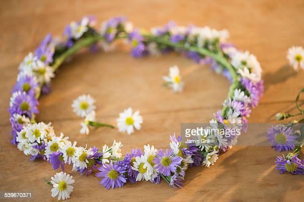 Studio shot of flower wreath