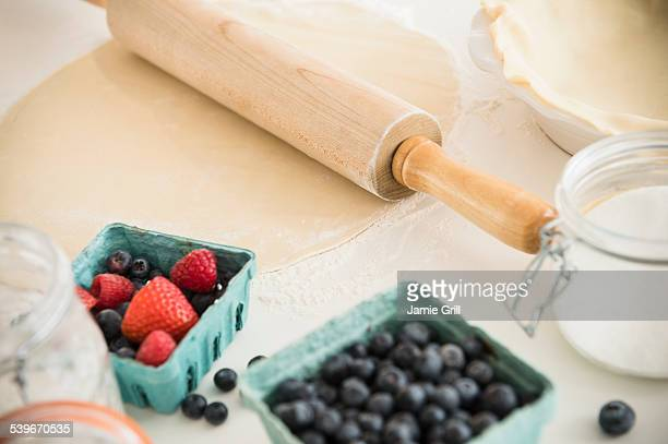 Studio shot of food fruit cake preparation