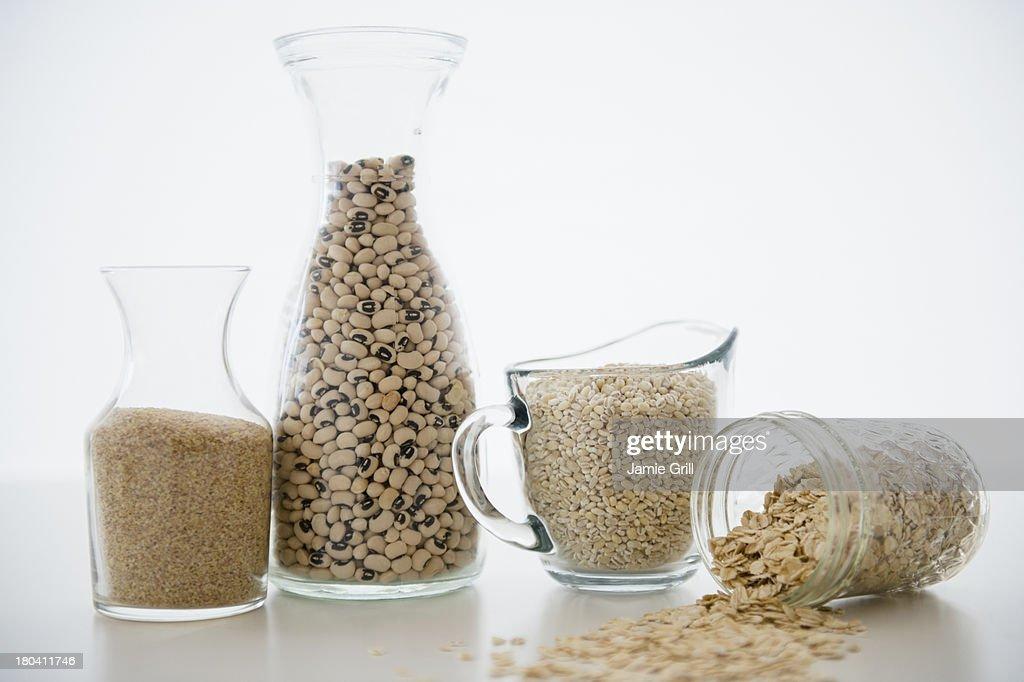 Studio Shot of grains, beans and legumes : Stock Photo
