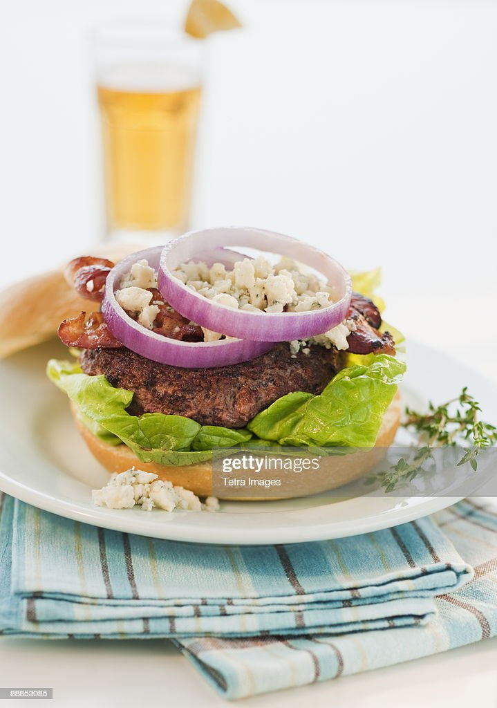 Studio shot of hamburger : Stock Photo