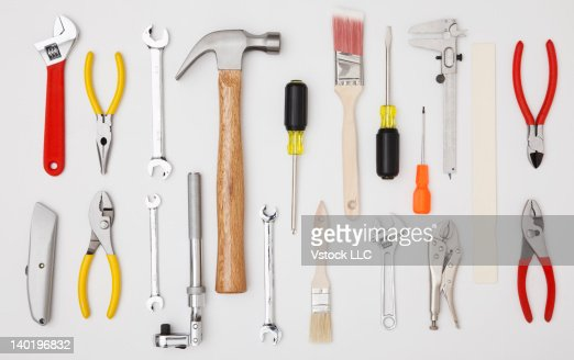 Studio shot of hand tools
