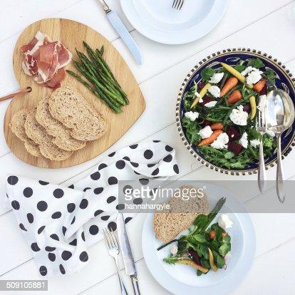 Studio shot of healthy meal