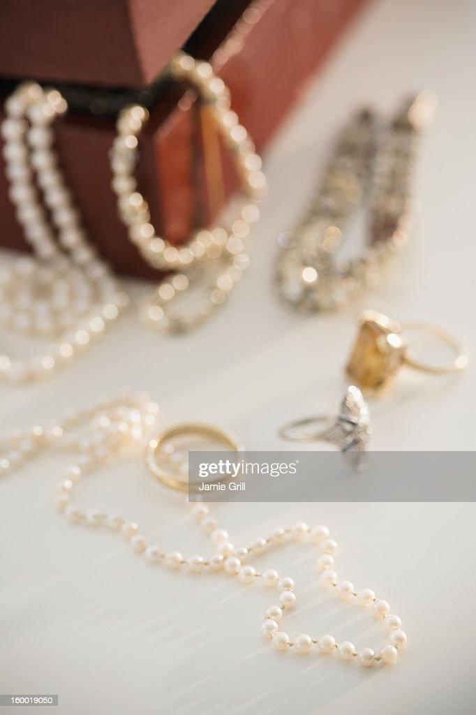 Studio shot of jewelry : Stock Photo